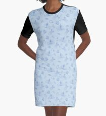 Magical Bride All Over Print - Blue Graphic T-Shirt Dress