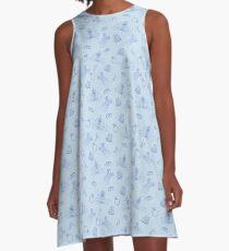 Magical Bride All Over Print - Blue A-Line Dress