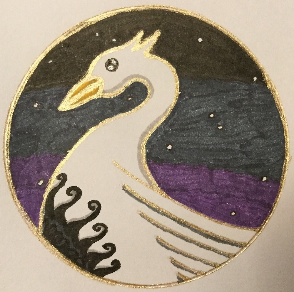 Black Sun Swan by RaspailJean