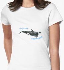 boycott seaworld Womens Fitted T-Shirt