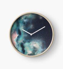 Turquoise Nebulous Clock