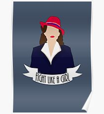 "P. Carter: ""Fight like a Girl."" Poster"