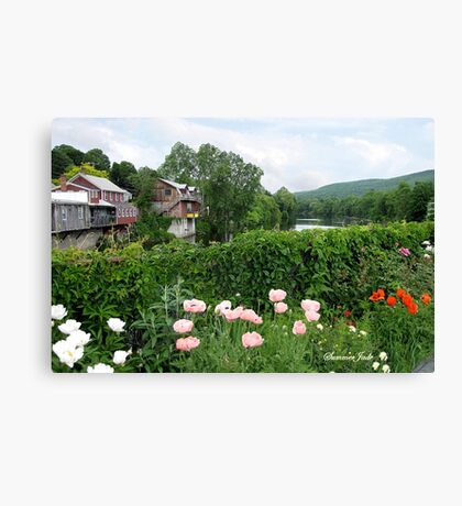 The Bridge of Flowers over the Deerfield River  Canvas Print