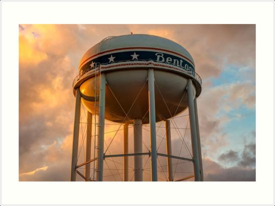 City of Bentonville Arkansas USA Water Tower by Gregory Ballos