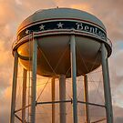 City of Bentonville Arkansas USA Water Tower by Gregory Ballos