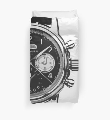 patek philippe watch abstract Duvet Cover