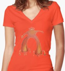 The Flaming Lips - Pink Robot Women's Fitted V-Neck T-Shirt