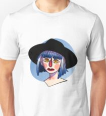 Blue Hair Witch Unisex T-Shirt