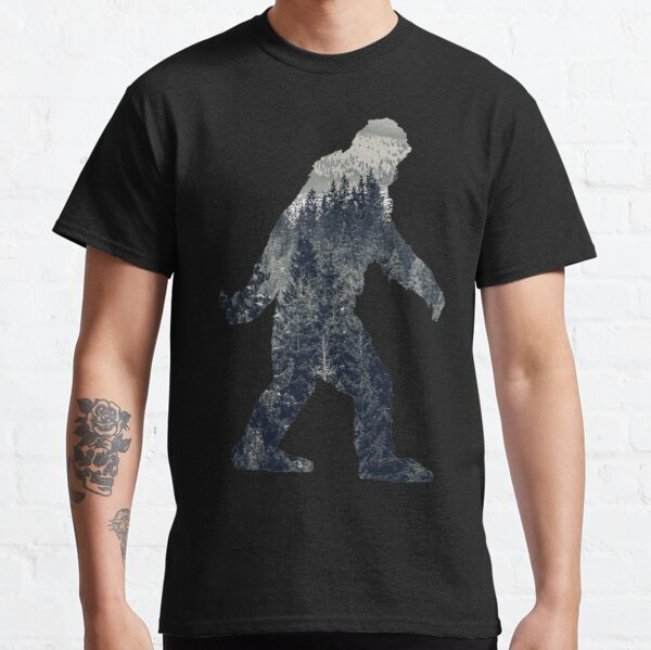 A Sasquatch Silhouette in The North Classic T-Shirt