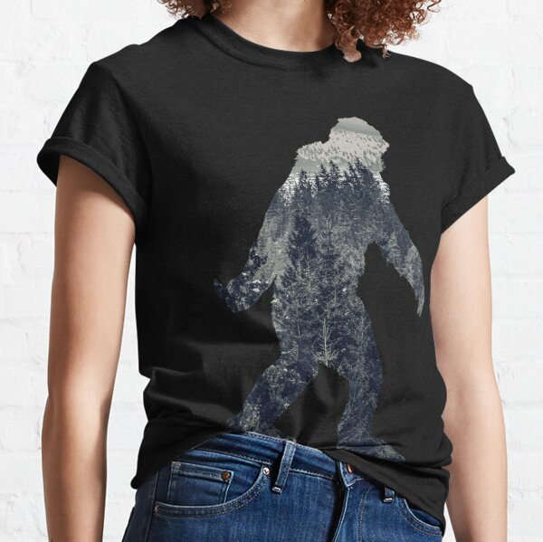 A Sasquatch Silhouette in The North Classic T-Shirt