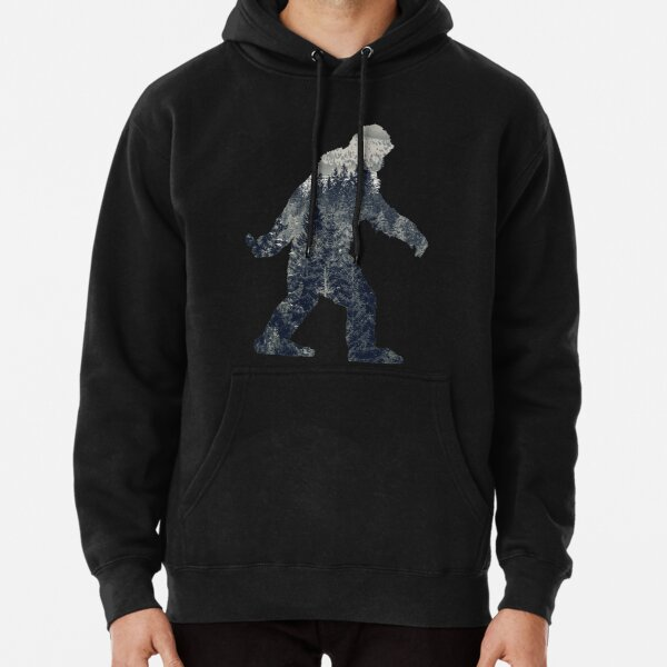 A Sasquatch Silhouette in The North Pullover Hoodie