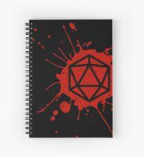 d20 Splatter Spiral Notebook
