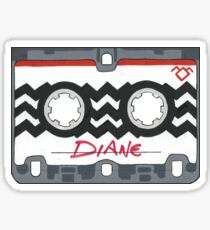 Twin Peaks Diane Tape Sticker