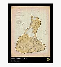 Vintage Print Image of Block Island - 1914 Photographic Print