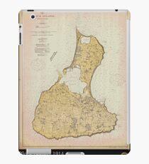 Vintage Print Image of Block Island - 1914 iPad Case/Skin