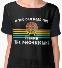 Thank the Phoenicians - Disney's Spaceship Earth - EPCOT Women's Chiffon Top