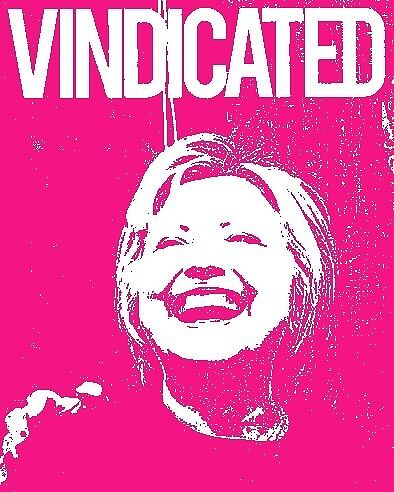 "Hillary Clinton ""Vindicated"" - Pink by Tchurch"