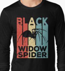 Black Widow Spider Vintage Retro Long Sleeve T-Shirt