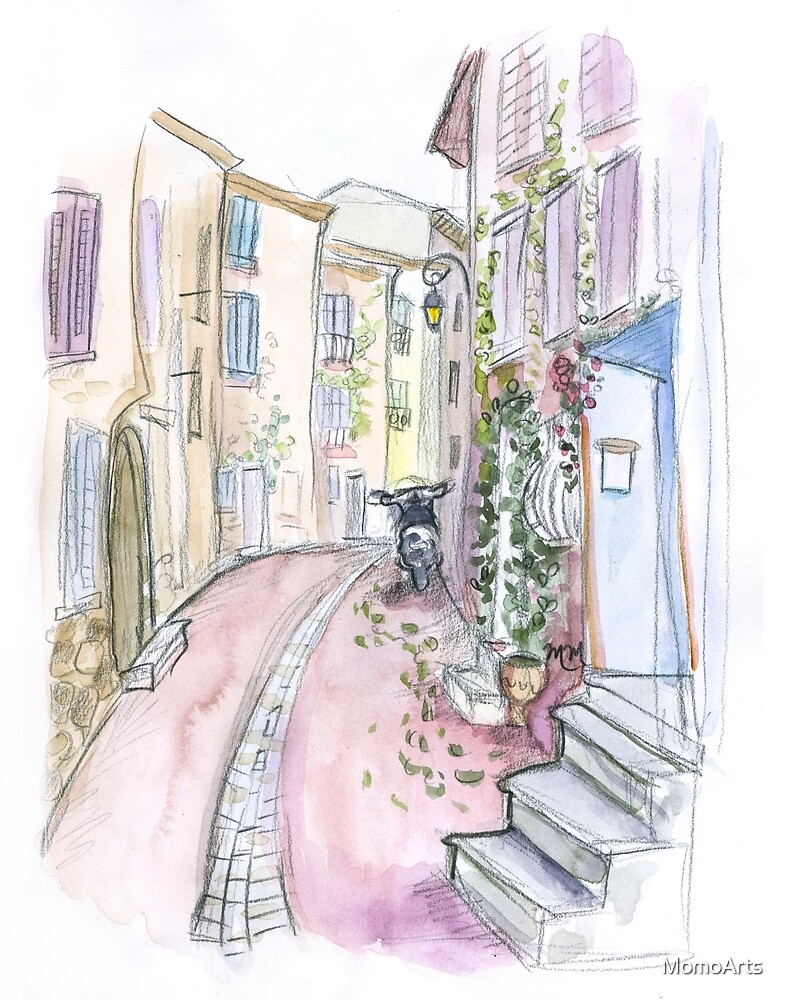 Streets of Paris in Watercolor by Maureen McAfee