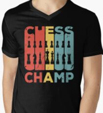Chess Champ Vintage Retro Men's V-Neck T-Shirt