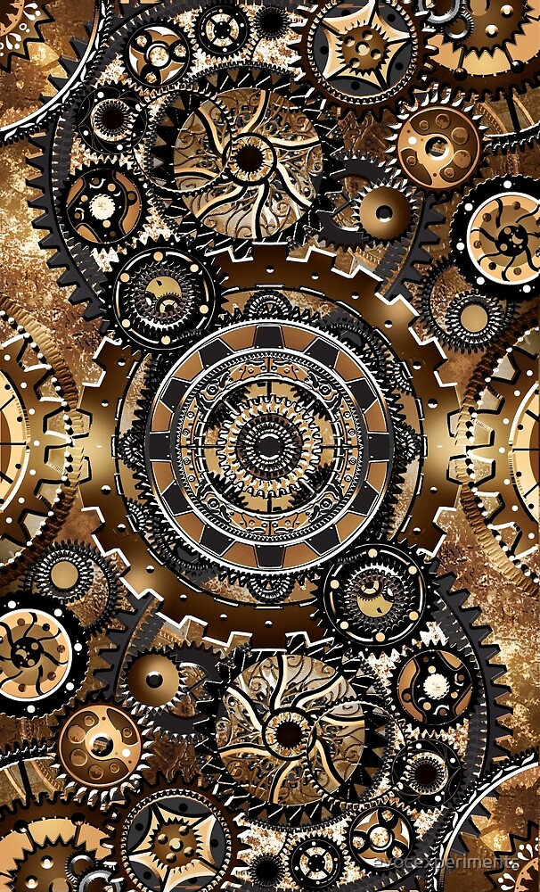 Steampunk Gear Wall by evocexperiments