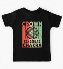 Yoga Crown Chakra Sahasrara Vintage Retro Kids Tee