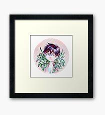Greenery Aesthetic  Framed Print