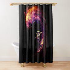 Surfen im Weltraum Duschvorhang