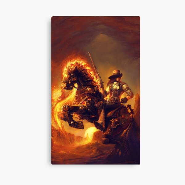 Steampunk Sheriff Canvas Print
