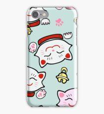 Pink Maneki Neko iPhone Case/Skin