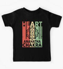 Yoga Heart Chakra Anahatha Vintage Retro Kids Tee