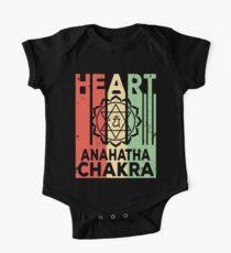 Yoga Heart Chakra Anahatha Vintage Retro One Piece - Short Sleeve
