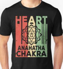 Yoga Heart Chakra Anahatha Vintage Retro Unisex T-Shirt