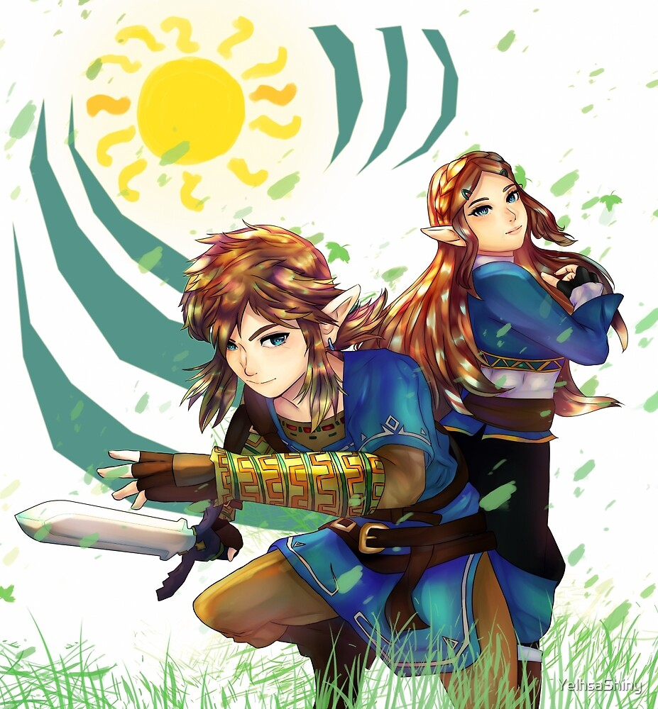 Link and Zelda Breath of the Wild by YelhsaShiny