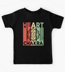 Yoga Heart Chakra Vintage Retro Kids Tee