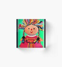 Mexican Maria Doll 3 Acrylic Block