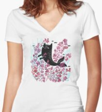 Undersea Women's Fitted V-Neck T-Shirt