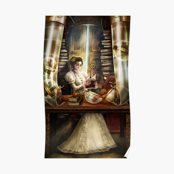 Steampunk Librarian Poster