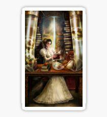 Steampunk Librarian Sticker