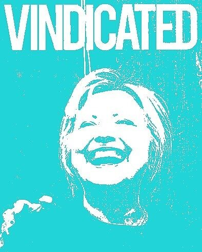 """Hillary Clinton """"Vindicated"""" - Teal by Tchurch"""
