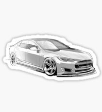 Tesla Concept Sketch Sticker