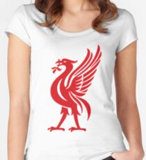 Liverpool bird Red Women's Fitted Scoop T-Shirt