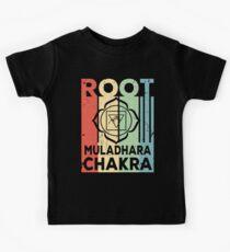 Yoga Root Muladhara Chakra Vintage Retro Kids Tee