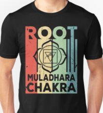 Yoga Root Muladhara Chakra Vintage Retro Unisex T-Shirt