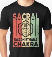 Yoga Sacral Chakra Swadhisthana Vintage Retro Unisex T-Shirt