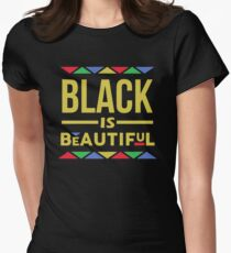 Black is Beautiful Women's Fitted T-Shirt