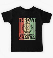 Yoga Throat Chakra Vishuddha Vintage Retro Kids Tee