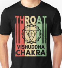 Yoga Throat Chakra Vishuddha Vintage Retro Unisex T-Shirt