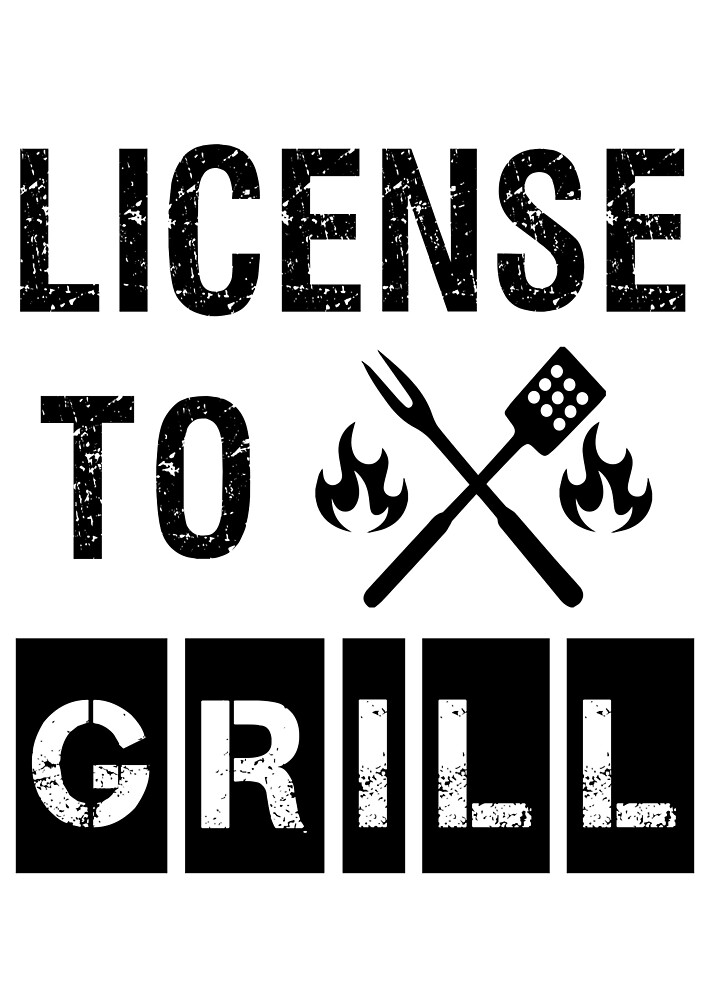 License to Grill funny BBQ shirt men by worksaheart