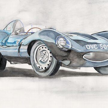 1954 Jaguar D-type prototype by lizdomett